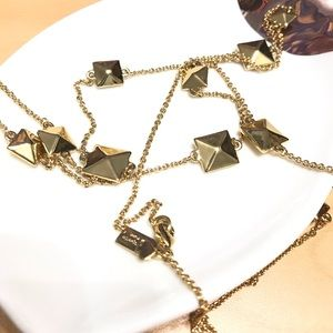 Kate Spade - gold squares long necklace